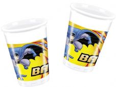 8 Batman Theme Plastic Party Cups